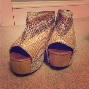 Jeffrey Campbell size 10 wedge mules